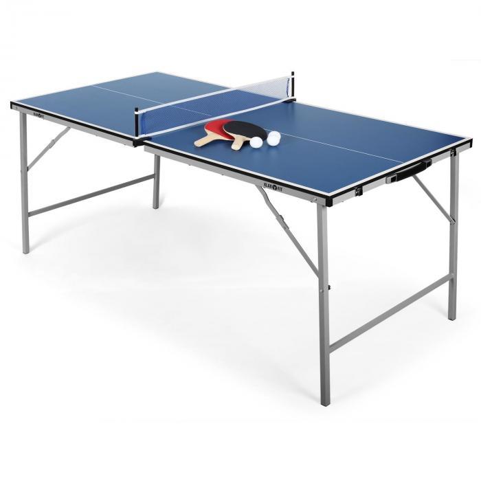 King Pong Tischtennisplatte klappbar blau