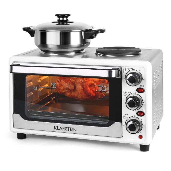 Omnichef 23HW Mini Oven with Hot Plates 1500W 23L White