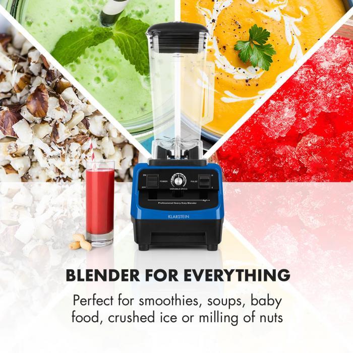 Herakles 3G Kitano Power-Mixer-Messer-Set 1500W BPA-frei 2l / 7 Messer
