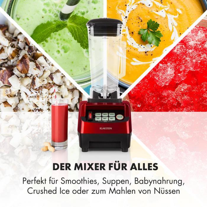 Herakles 5G Kitano Power-Mixer-Messer-Set 1500W BPA-frei 2l / 7 Messer