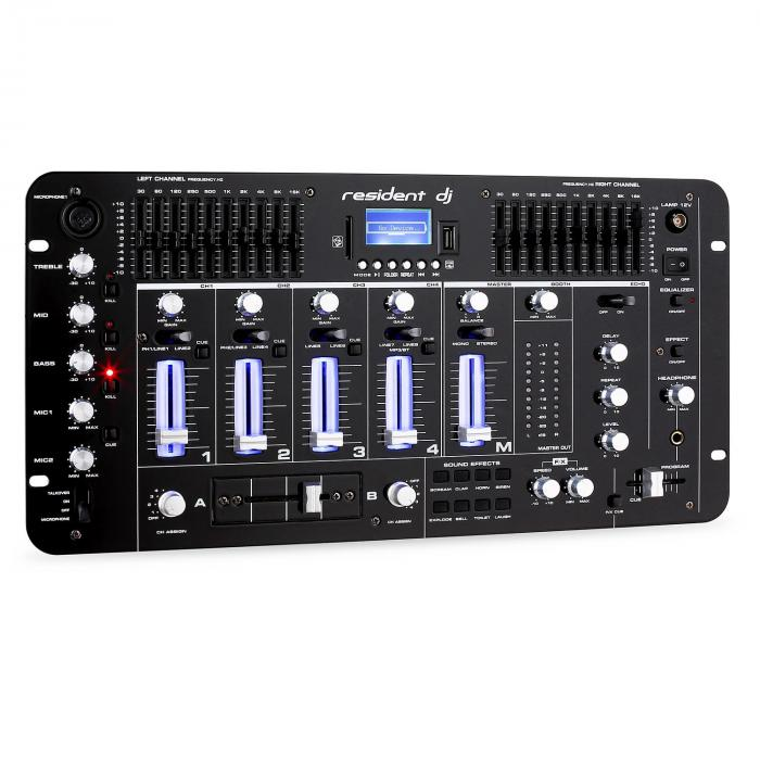"DJ-PA-set ""Mars Flash"" Rack Star Series 400 personer"