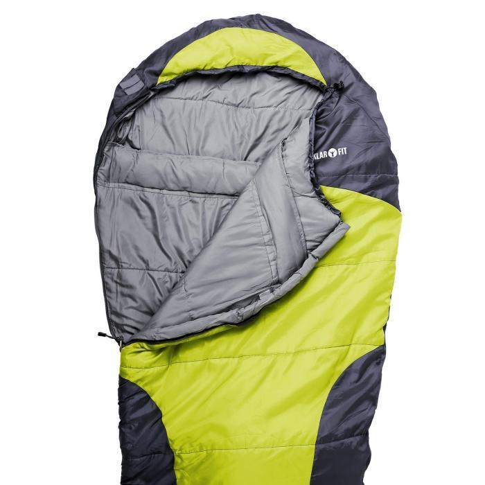 Gullfoss śpiwor 230x80x55cm 2-warstwowy, 1,5kg zielony