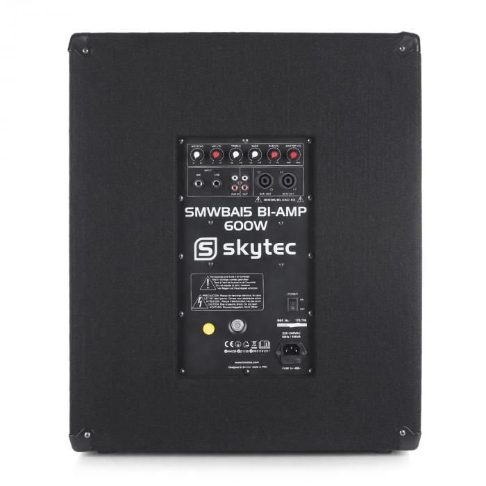 Set Skytec 2.1 PA Casse 25cm Monitor Supporti Stativi