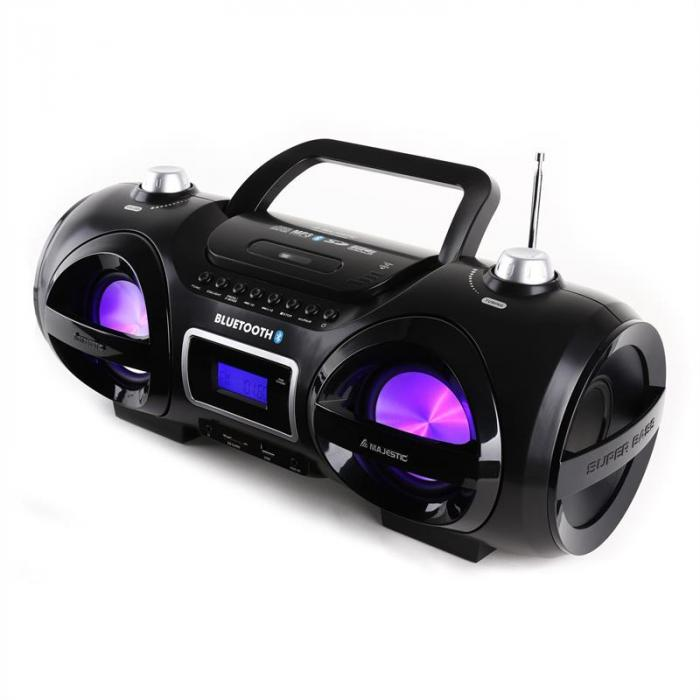 AH 234BT/MP3/USB Bluetooth-Ghettoblaster CD MP3