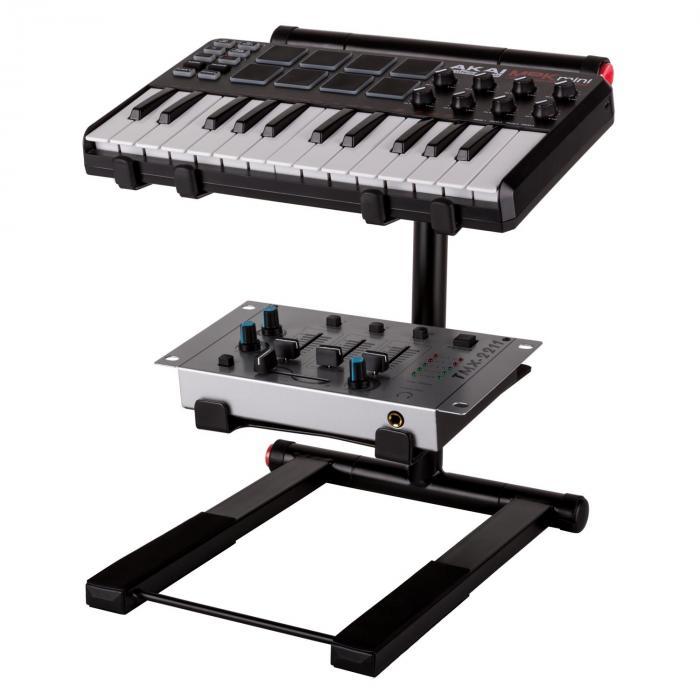 SLAP 200 kaksiosainen jalusta kannettavalle tietokoneelle DJ musta