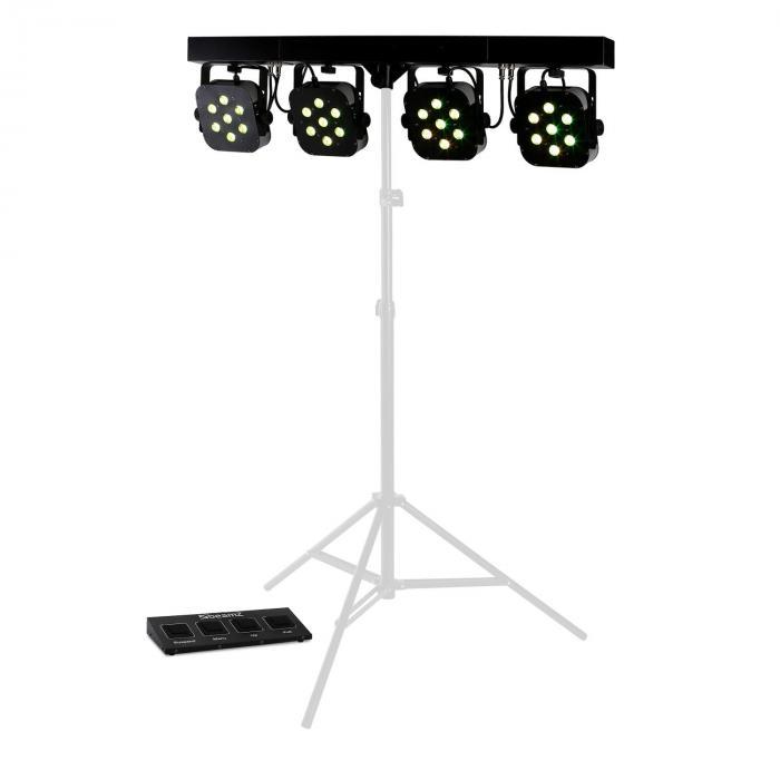 LED PARBAR 4 Way 7x10W Quad LED-valoefekti DMX musiikkiohjaus