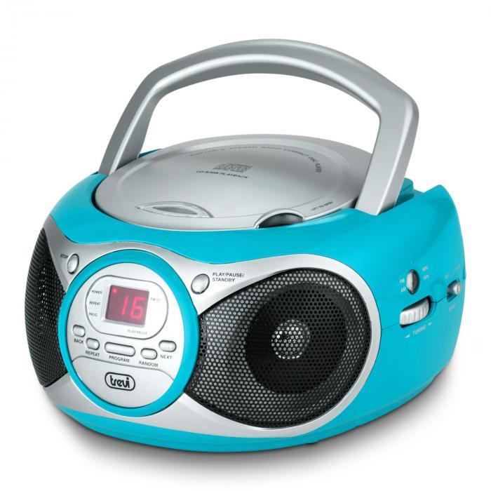 CD 512 CD-soitin MP3 AM/FM-radio AUX turkoosi