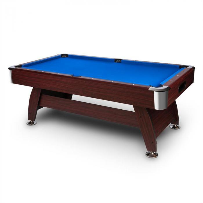 """Brighton Tavolo da Biliardo 7"""" (122x82x214 cm) Set Accessori Formica Blu"""