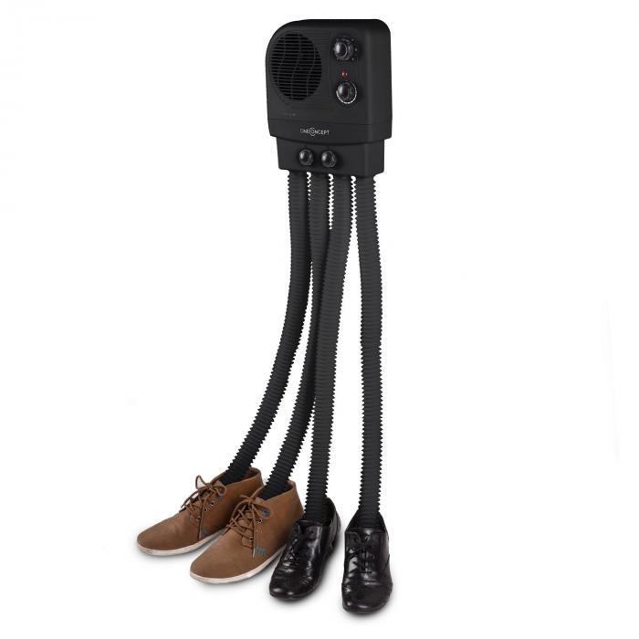 Choobidoo kengänkuivaaja 2 paria 350W seinäasennus musta
