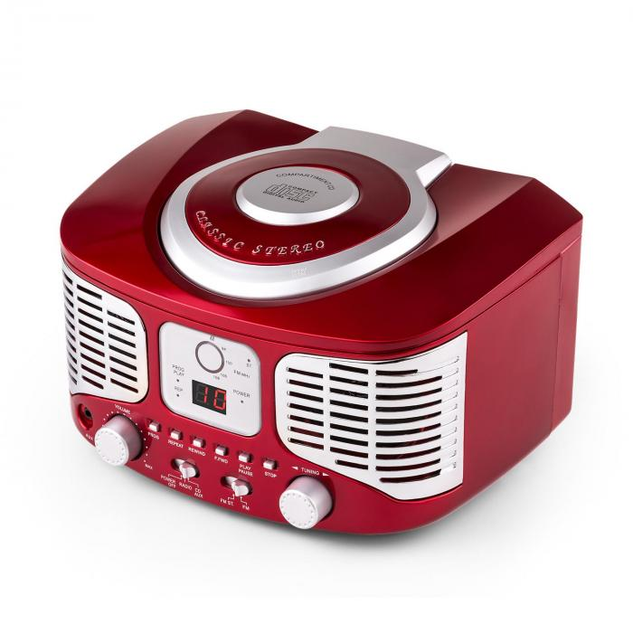 RCD320 Retro-CD-Player UKW AUX rot