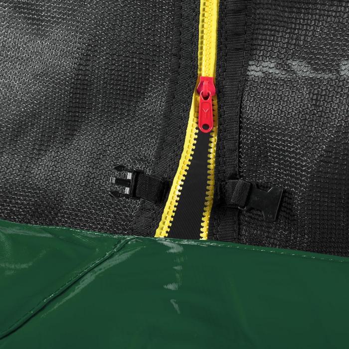 Rocketstart 366 trampoline 366cm veiligheidsnet binnenkant brede ladder, groen