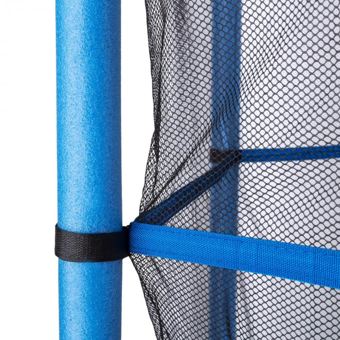 Rocketkid Trampolin 140cm Sicherheitsnetz innen Bungeefederung blau