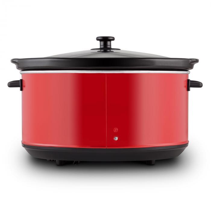Bankett Slow Cooker Cuocivivande Digitale 6,5 Litri 320W Rosso