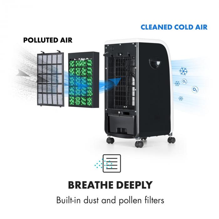 Caribbean Blue Air Cooler Fan Room Freshener 70W Black ...