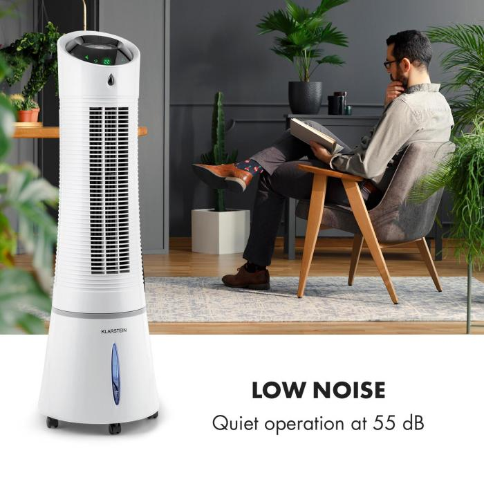 Skyscraper Ice 4-in-1 Air Cooler Fan Air Purifier Humidifier 210 m³ / h 30 W Oscillation Grey