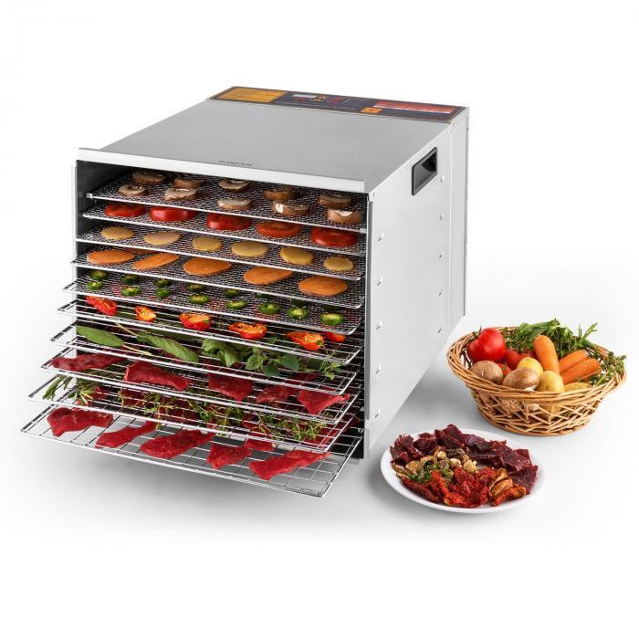Fruit Jerky Pro 10 10-Tiered Stainless Steel Food Dehydrator 1000 W
