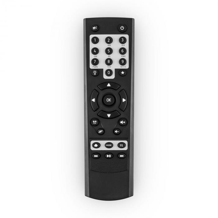 IR-150 internet radio FM DLNA draadloze afstandsbediening retro houten behuizing zwart