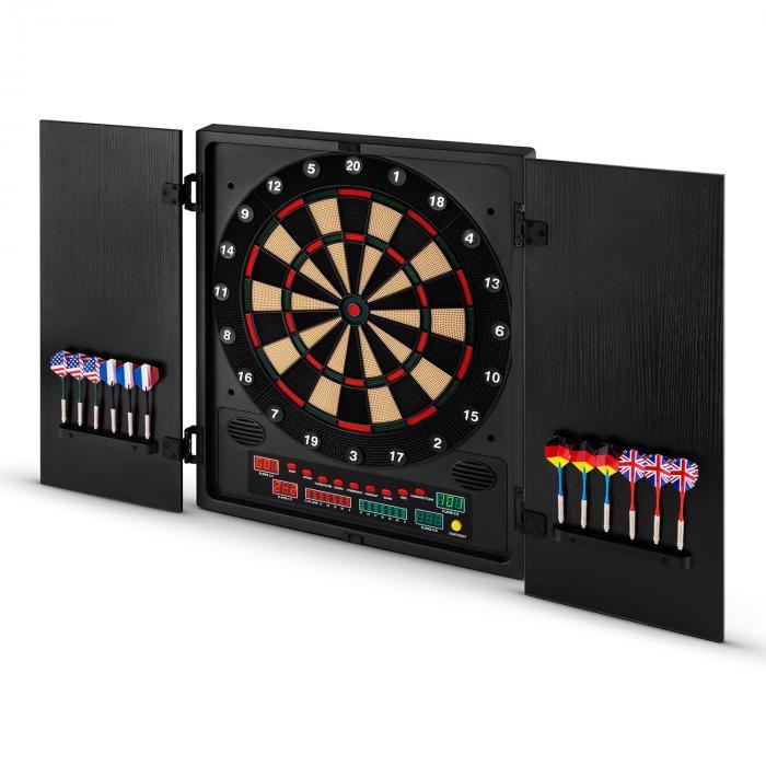 Dartmaster 180 tikkataulu tikka-automaatti softtip design-ovet musta