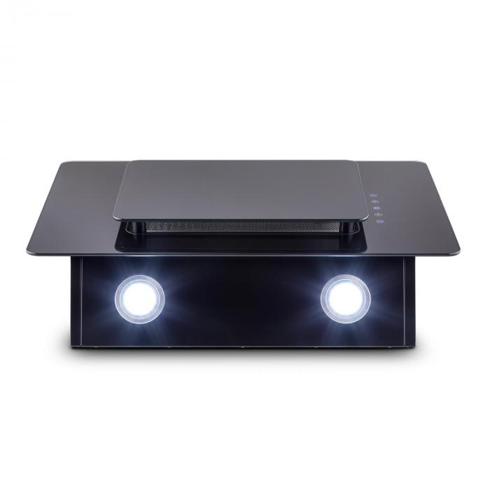 Lorea Extractor Cooker Hood 60cm touch panel black safety glass
