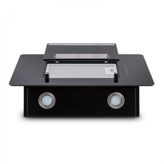 Lorea 60 Dunstabzugshaube inklusive 2 x Aktivkohlefilter schwarz