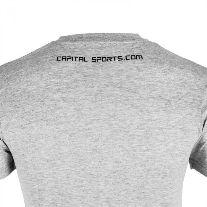 Beforce Trainings-T-Shirt für Männer Size S grau meliert