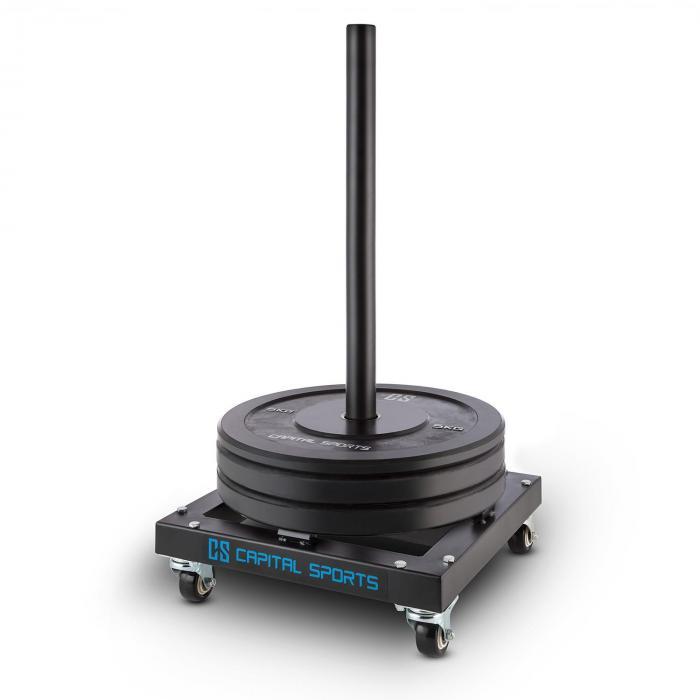 Compristar Trolley Per Dischi Per Sollevamento Pesi Ruote Ad Alta Portata 300 kg max.