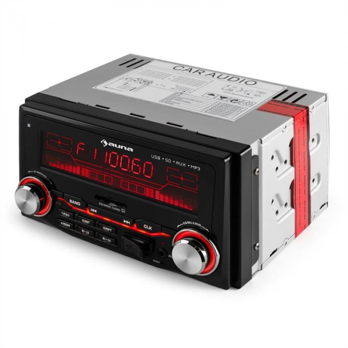 MD 200 2G Autoradio USB SD MP3 Radioregistratore 3 Colori 4x75W Line-Out