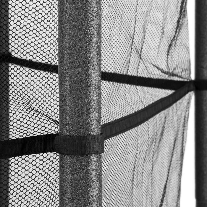 Rocketkid 5 Trampolin 140cm Sicherheitsnetz Bungeefederung Blumenmuster
