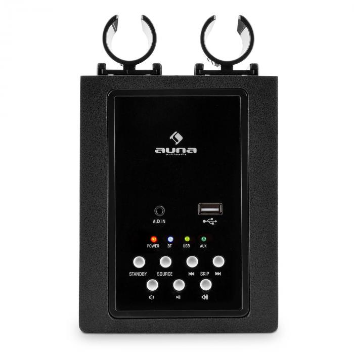 Karaboom LED Bluetooth Speaker USB AUXKaraoke 2 x Microphone