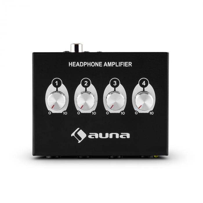 HA-4CH 4-Channel Headphone Amplifier RCA 6.3mm Jack Metal Housing