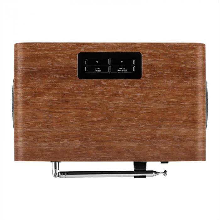 DABStep DAB/ DAB + Rádio Digital Bluetooth RDS FM despertador castanho