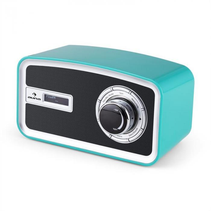 Sheffield blue Radio Digitale Retro DAB+ FM Funzionamento con Batterie Tur