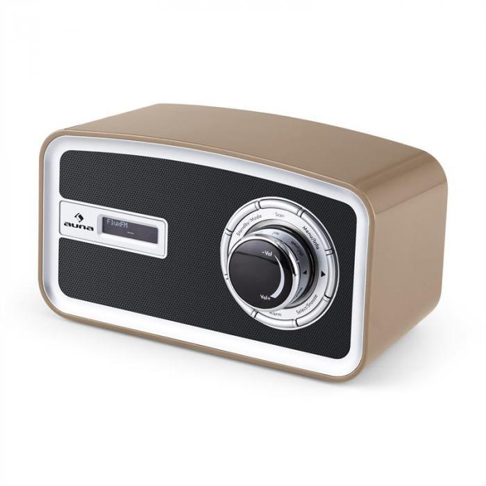 Sheffield mocca Retro Digitalradio DAB+ UKW Batteriebetrieb mocca