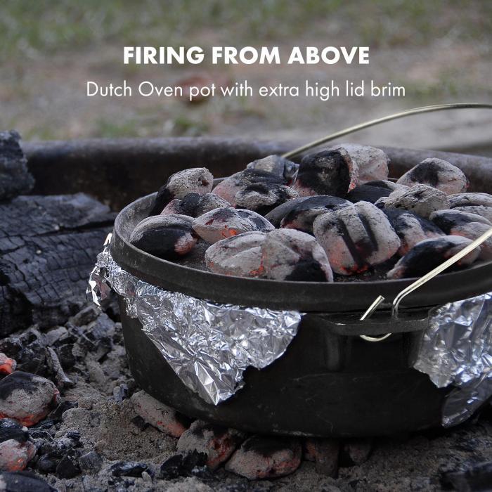"Hotrod 45 Tacho ""Forno Holandês"" BBQ Ferro Fundido 4,5 qt/4 L Preto"