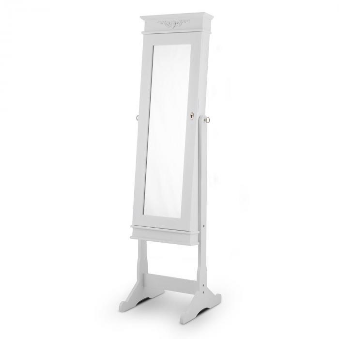 Patricia Specchio Portagioie LED Orientabile bianco