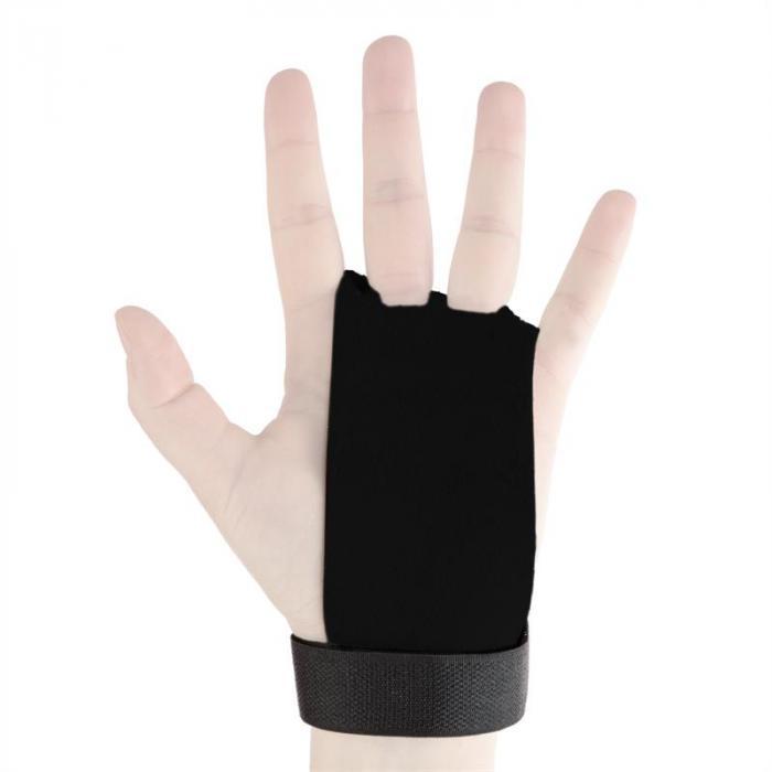 Gymies Handschutz Paar Echtleder Klettverschluss Gr. M schwarz