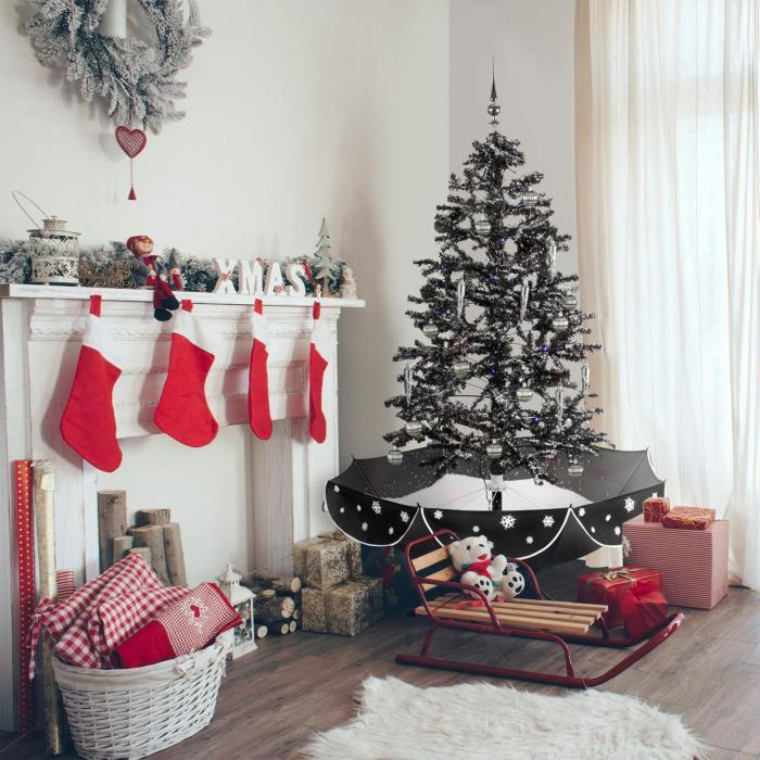 everwhite schneiender weihnachtsbaum 180cm led musik. Black Bedroom Furniture Sets. Home Design Ideas