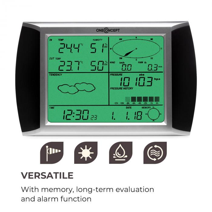 Beaufort Wireless Weather Station with LCD Touch Display
