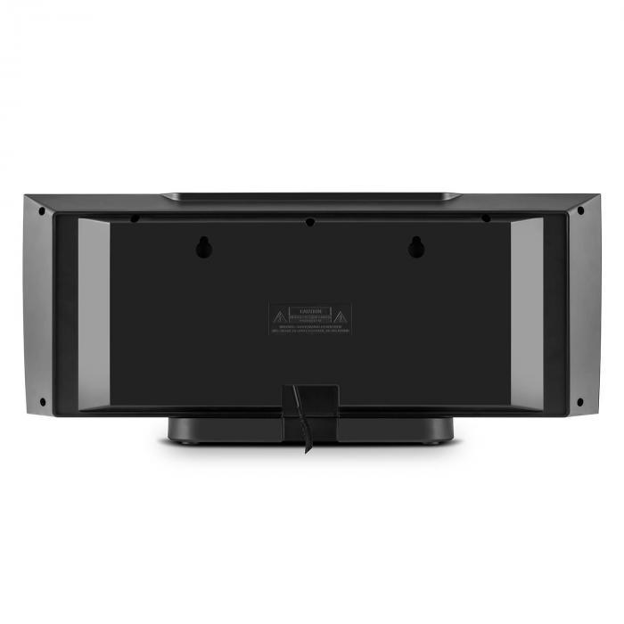 v 15 stereoanlage cd usb mp3 ukw aux wandmontage wecker schwarz schwarz online kaufen. Black Bedroom Furniture Sets. Home Design Ideas