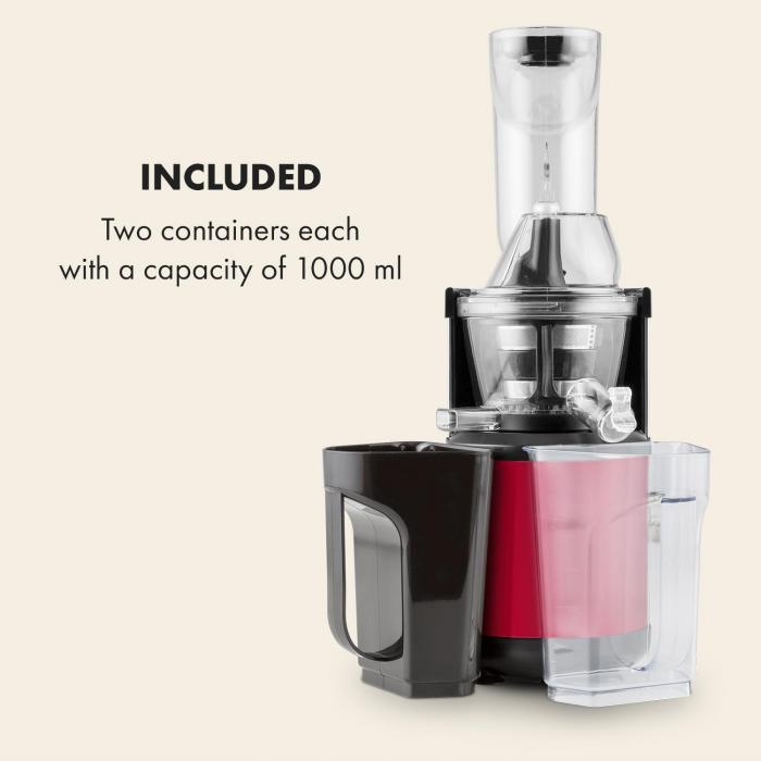 Fruitberry Slow Juicer 400W 60 RPM Stainless Steel Red