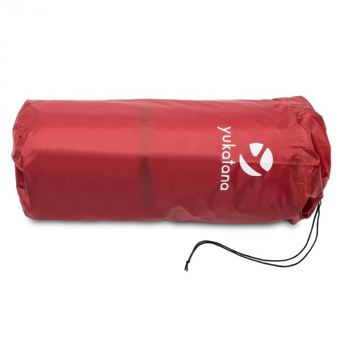 Goodbreak 7 slaapmat dubbele luchtmatras 7cm dik hoofdkussen rood