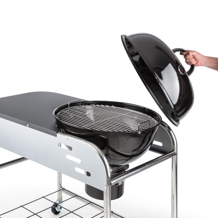 Meatpacker XXL Charcoal Grill BBQ Smoker Ø 54 cm Zinc-coated