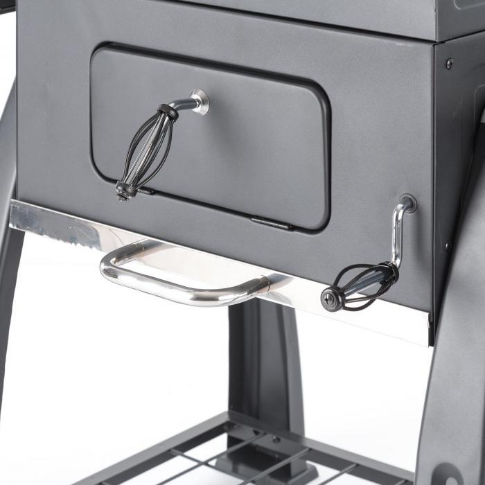 Bigfoot Grill a Carbone di Legna Smoker BBQ-Grill 55 x 40 cm Acciaio nero