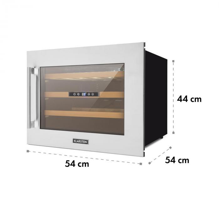 Vinsider 24D Wine Refrigerator Built-inCooling Zones 24 Bottles Stainless Steel