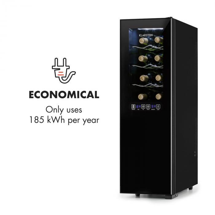 bellevin weink hler weink hlschrank 45 liter 16 flaschen 2 zonen online kaufen elektronik. Black Bedroom Furniture Sets. Home Design Ideas