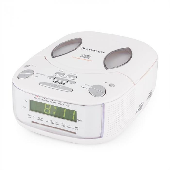 Dreamee SL Radio Alarm with CD Player FM/AM AUX Dual Alarm White