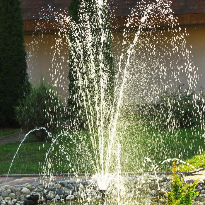 Wasserwerk 250 vesipumppu aurinkovoima suihkulähde 250 l/h LED akku