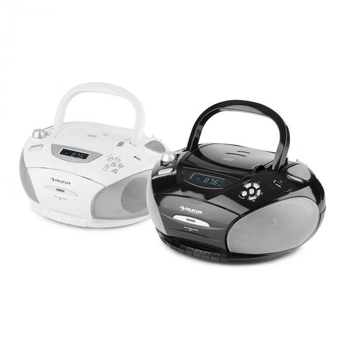 RCD 220 Boombox CD USB Kassettendeck PLL-UKW-Radio MP3 schwarz