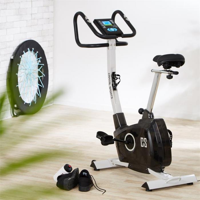 Durate kuntopyörä kardio-treenilaite 4 kg syke tietokone hopeanvärinen