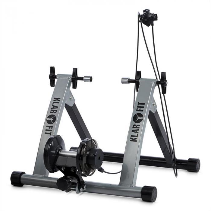 Tourek Formatore Bicicletta Allenamento Indoor 26/28 Pollici 100 kg Acciaio argento